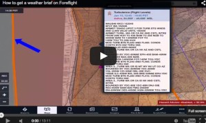 How to get a weather brief on Foreflight