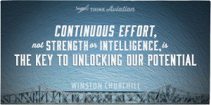 Continuous effort quote from Winston Churchill