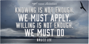 Knowing is not enough quote from Bruce Lee