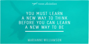New way to think quote from Marianne Williamson