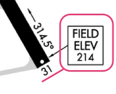 Example of FAA field elevation