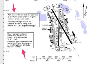 Jeppesen airport diagram with additional remarks