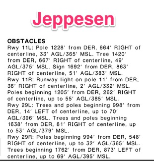 Jeppesen obstacle description