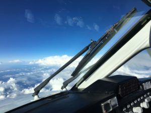 Thunderstorms from a King Air