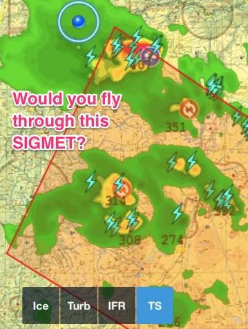 Active convective SIGMETs