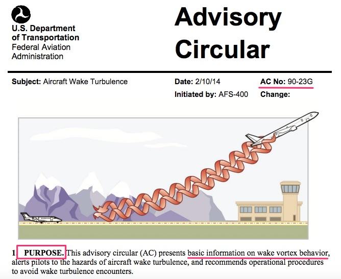 Advisory Circular on Aircraft Wake Turbulence AC_90-23G