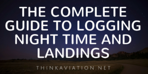 when can you log night time and landings?