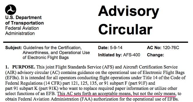 Advisory Circular on Electronic Flight Bag AC120-76C
