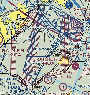 Fort Lewis restricted airspace