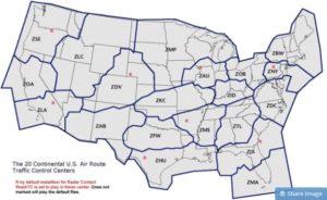ARTCC map