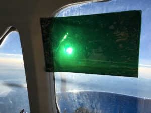 Flying with removable sun visor